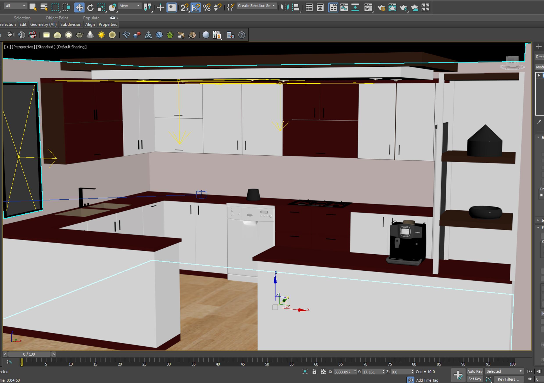 مدل 3ds max آشپزخانه